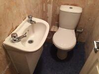 Bathroom sink cloakroom sink and toilet