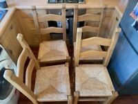 4 wooden dining/kitchen chairs