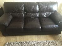 Three seater couch and armchair