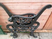 1 pr Cast iron Bench/Chair Ends View Photo