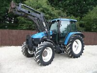 NEW HOLLAND TS115 4X4 TRACTOR WITH TRIMMA LOADER