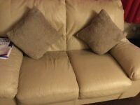 Leather 2 seater settee