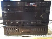 Kenwood A-3x amplifier and a GE-600 equalizer