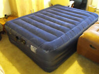 SELF INFLATING DOUBLE AIRBED with built in electric pump.