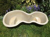 Garden Pond made from Fibreglass – GRP – 195cm x 50cm deep - (6ft 4inch x 1 ft 8 inch deep)
