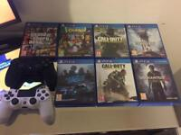 PlayStation 4 , 2 controllers, 7 games
