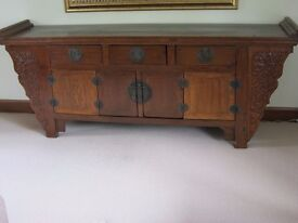 Genuine Antique Chinese Altar buffet style Table/ Cabinet