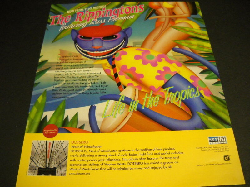 RIPPINGTONS Russ Freeman colorful 2000 PROMO POSTER AD Life In The Tropics mint