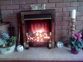 Coal Effect Fire With Fan.