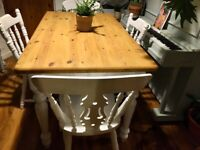 Solid Pine Table and Chairs Free Delivery