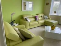 Lime Green Leather Suite