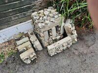 Flint coated concrete blocks