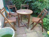 Wooden garden patio set - Teak
