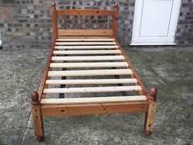 3ft Pine Bed