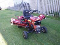 Saxon Triple Ride On Lawnmower - 2nd hand, In Excellent Condition