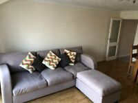 5 Seater Double Sofa Bed with large foot stool