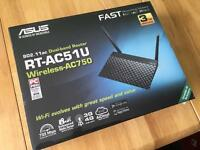 ASUS RT-AC51U Dual-Band Wireless AC750 Cloud Router - Brand New/Sealed