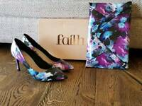 Faith. Patent shoes and bag. Size 6