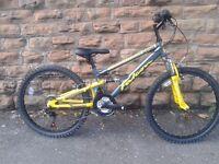 NEW Falcon Boy's Neutron FS Bike - Grey/Yellow, 24-Inch