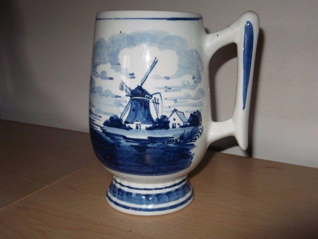 Vintage Delft Tankard