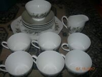 tea coffee service set Ridgway Potteries Royal Adderley Arcadia Fine Bone China - 21 pcs