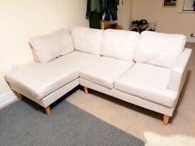 Corner Sofa, Natural colour, H90, W200, D137cm, Brand new/perfect conditions
