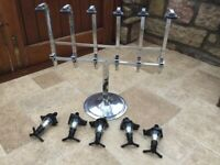 Freestanding 6 bottle bar stand with optics
