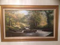 Stunning landscape painting of river Erne scene