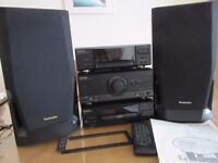 TECHNICS Stack Stereo System. Vintage Hi-Fi Audio, Tuner, AUX.