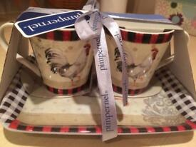 Countryside cups and tray