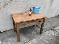 Serving table desk dining solid pine Farmhouse vintage Can Deliver r