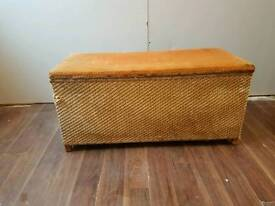 old ottoman in used condition needs fixing in places