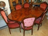 Old Style Table with 6 Chair