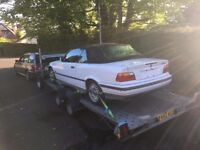 '94 BMW E36 3 series 325i USA Import LHD Rolling Shell NO ENGINE - Alpine white unregistered