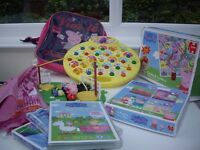 Peppa Pig Toys and Peppa Pig DVD's, Disney Princess Jigsaw £15.00, Buyer to collect from Warwick