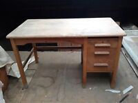 Abbess - Small Wooden Vintage Desk
