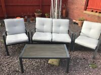 Lovely garden furniture set - sofa, X2 chairs and table