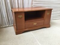 Stag Quality (Cherry Wood) Entertainment Centre; Integrated storage Cupboards, DVD Drawers and more