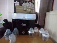 Tommee tippee steriliser and un- used bottles