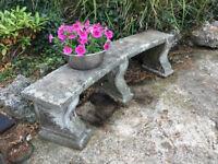 Curved Concrete Garden Bench