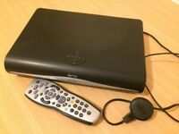 Sky+HD box with lead and sky remote