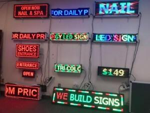 Programmable Scrolling LED Sign Store Sign ** Free Installation Only This Week **