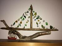 Ornamental hand crafted boat