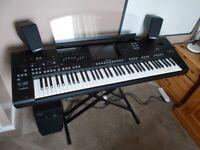 Yamaha Genos Keyboard and speakers