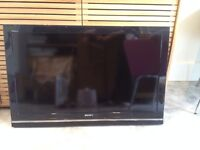 """Sony Bravia TV / Television 40"""" with remote (no stand - so wall mount only)"""