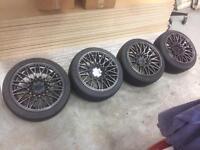 Xxr 553 alloy wheels 4x100 16x8 et21 concave drift stance civic golf Mx5 s13 195 45 toyo proxe t1r