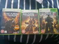 Gears of war 1,2 & 3 xbox 360