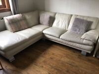 Left Hand Leather Corner Sofa