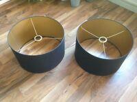 Heals Black and Gold Lamp Shades