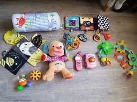 Baby toys/car seat activity /sing along dog